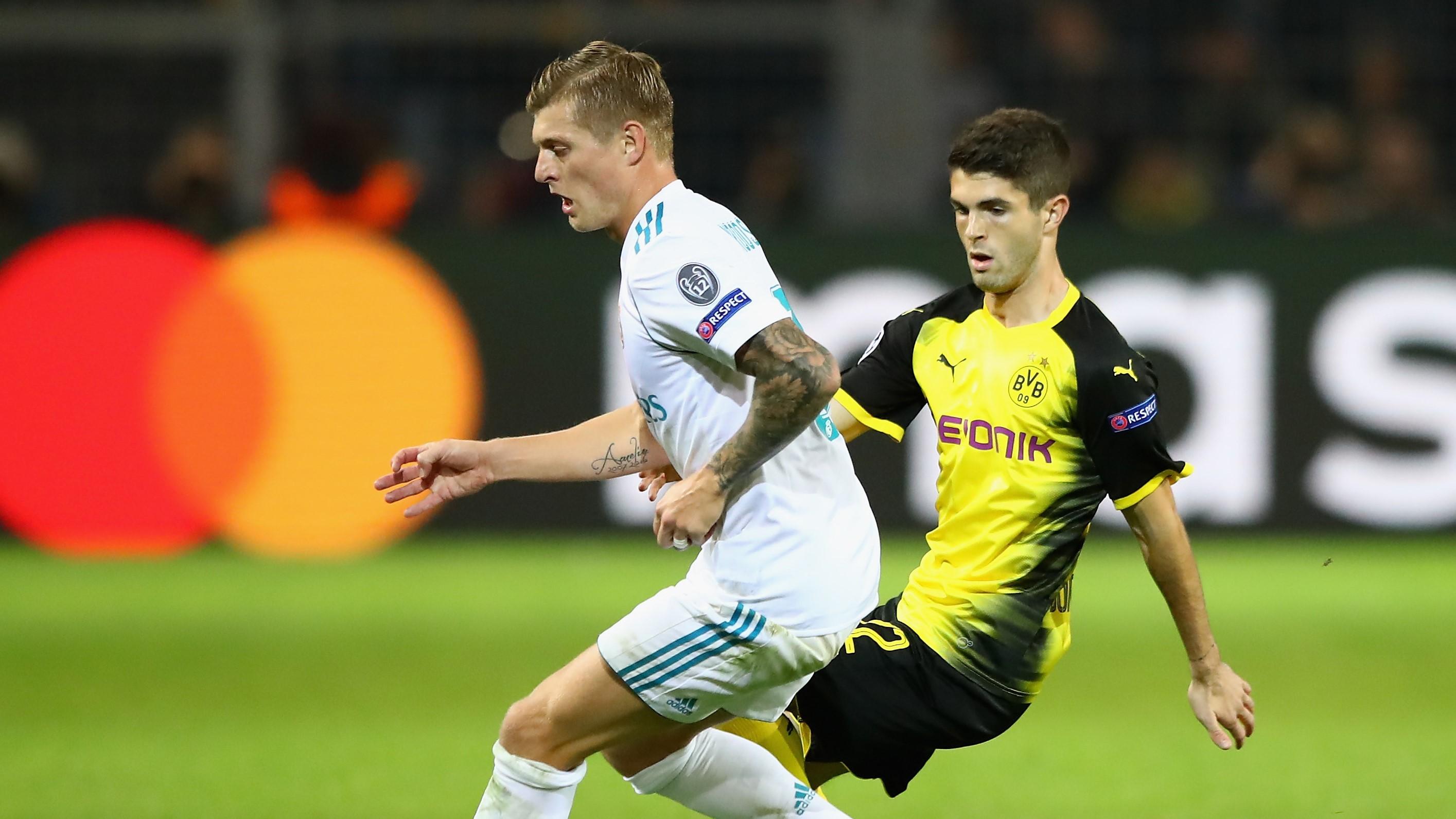 Toni Kroos Christian Pulisic Borussia Dortmund Real Madrid UCL 26092017