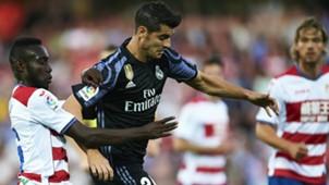 Alvaro Morata Victorien Angban Real Madrid Granada LaLiga 06052017