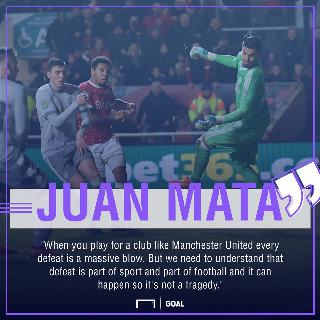 Juan Mata Manchester United cup defeat no tragedy