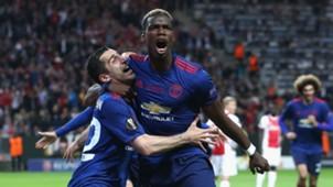 Henrikh Mkhitaryan Paul Pogba Manchester United Europa League Fina