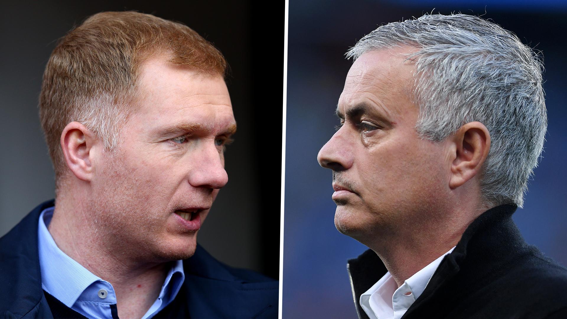 Paul Scholes and Jose Mourinho