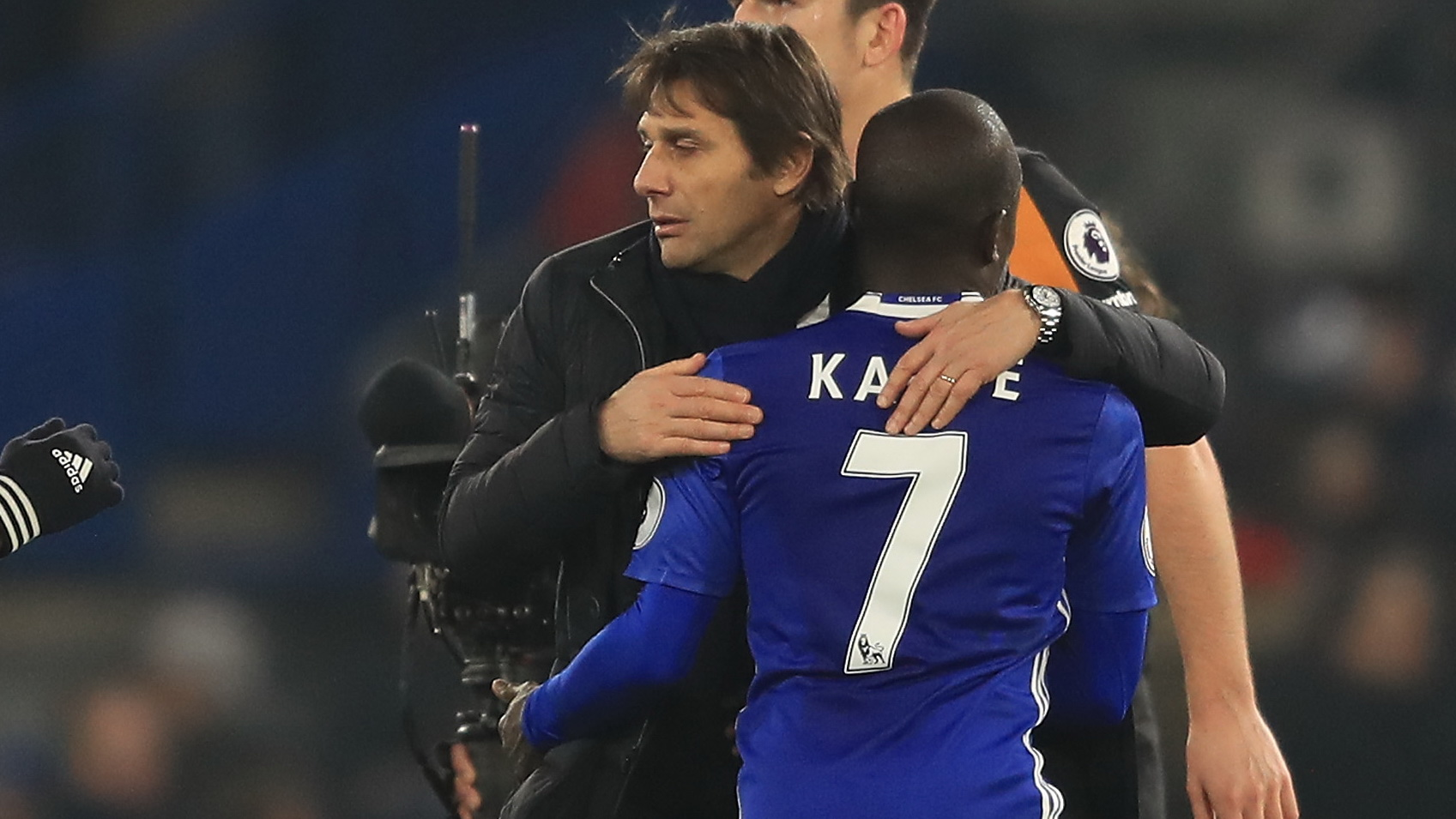 Antonio Conte N'Golo Kante Chelsea Premier League