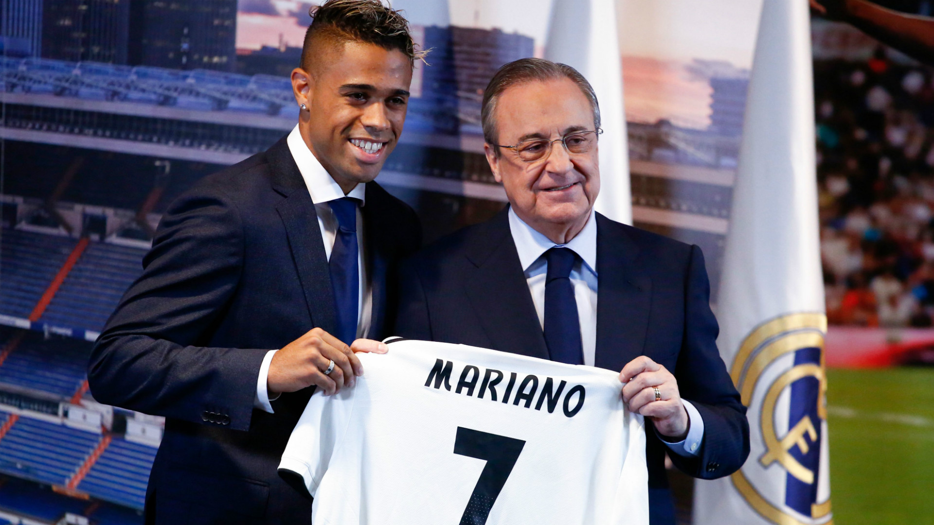 Mariano Diaz Florentino Perez Real Madrid unveiling