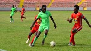 Mohammed Amadu of Bechem United against Kotoko
