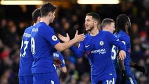 Eden Hazard Alvaro Morata Chelsea West Brom