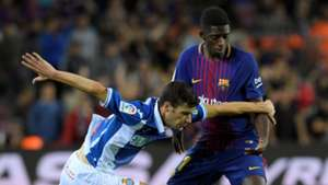 Ousmane Dembele Aaron Martin Barcelona Espanyol LaLiga 09092017