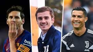 Lionel Messi Antoine Griezmann Cristiano Ronaldo GFX