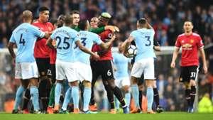 Manchester City Manchester United Premier League Fight