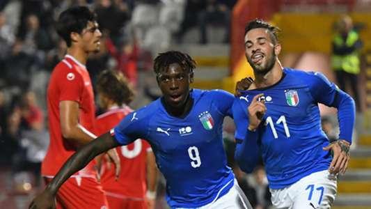 Moise Kean Vittorio Parigini Italy U21 Tunisia U21