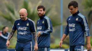 Sampaoli Messi Dybala Argentina