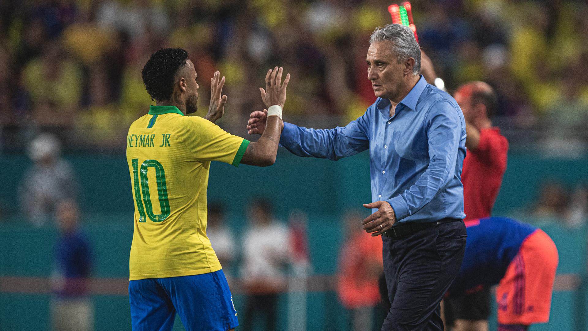 Neymar Tite Brasil Colombia Amistoso 06092019