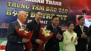 Ryan Giggs Paul Scholes press conference Vietnam PVF