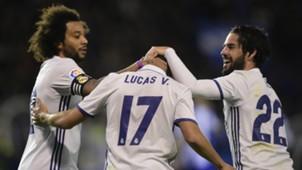 Marcelo Lucas Vazquez Isco Alarcon Deportivo Coruna Real Madrid LaLiga 26042017