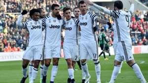 Juventus celebrating vs Sassuolo