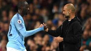 Yaya Toure Pep Guardiola Manchester City 09052018