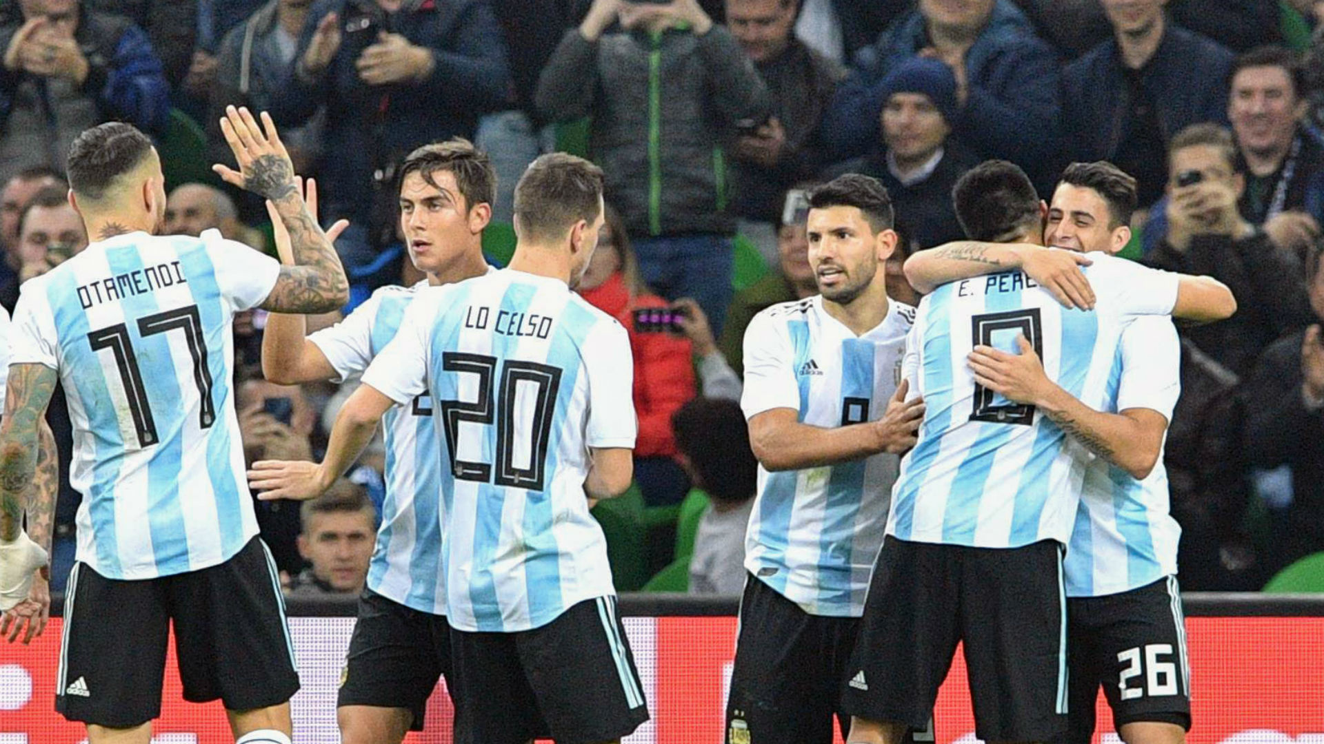 Argentina celebrate against Nigeria