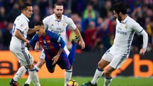 Neymar Barcelona Daniel Carvajal Lucas Vazquez Isco Real Madrid La Liga