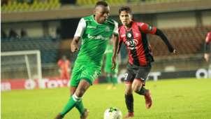 Gor Mahia striker Jacques Tuyisenge v USM Alger.