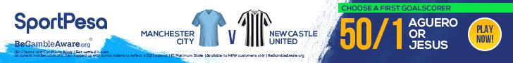 Manchester City v Newcastle SportPesa offer