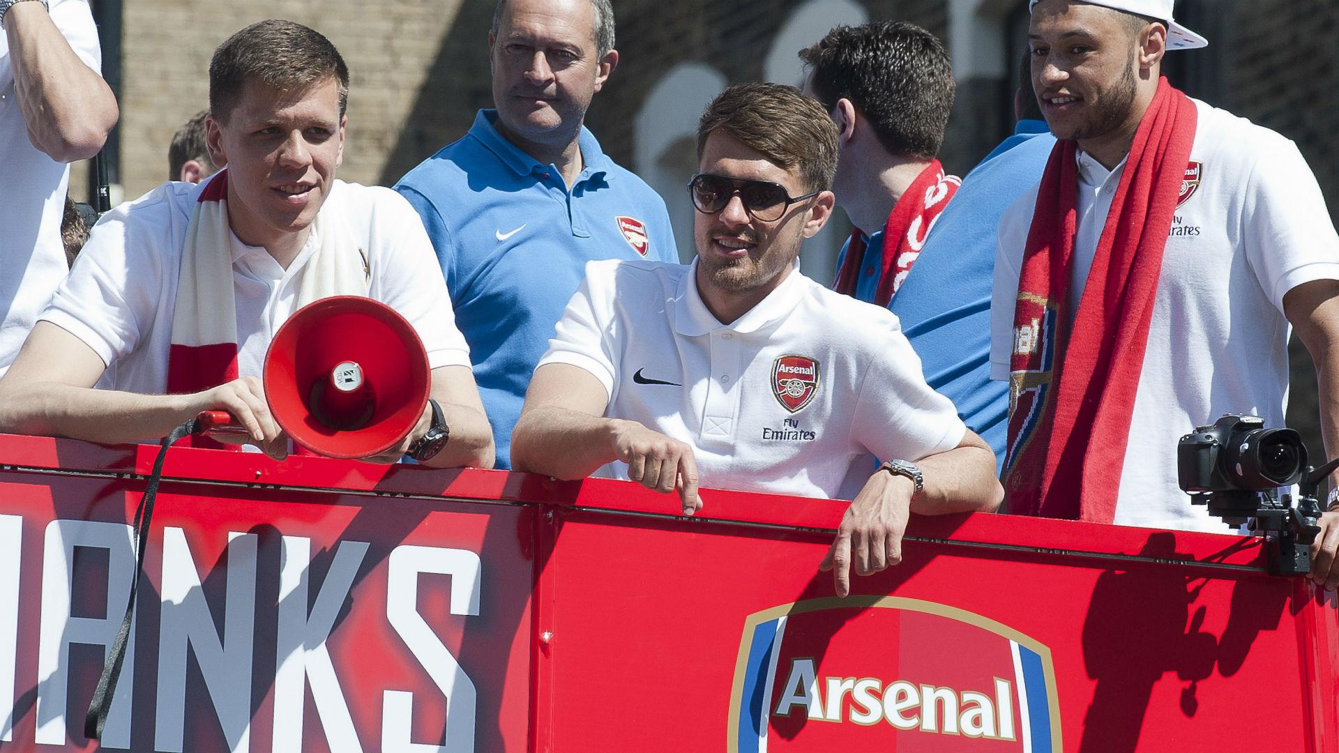 Wojciech Szczesny Aaron Ramsey Arsenal