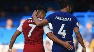 170917 Alexis Sánchez Cesc Fàbregas Chelsea Arsenal