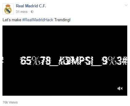 Real Madrid Facebook Hack 2