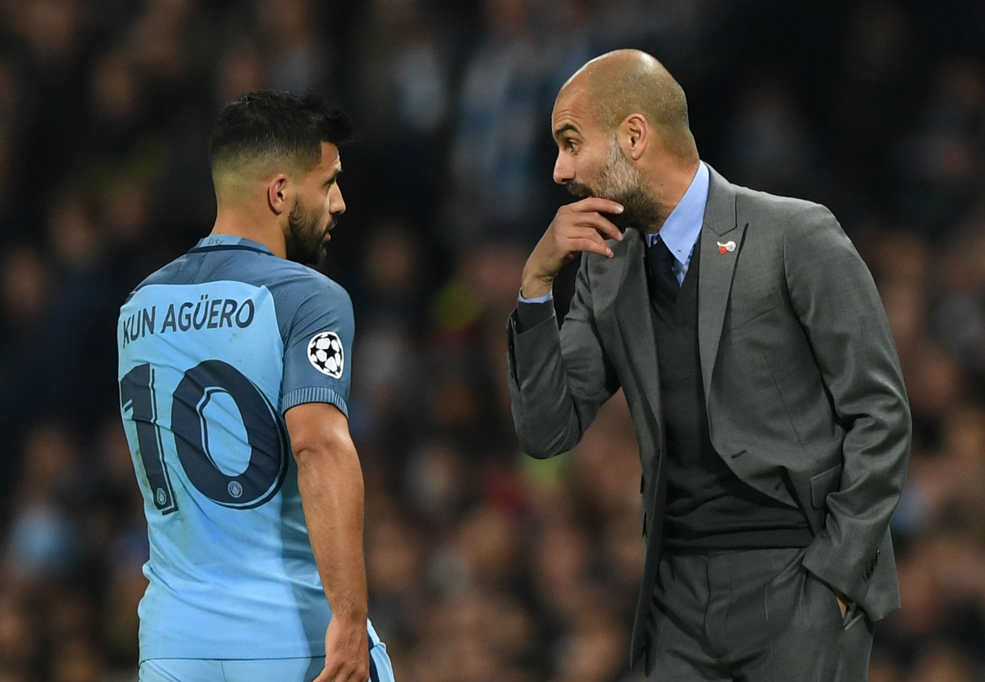 Image result for aguero guardiola