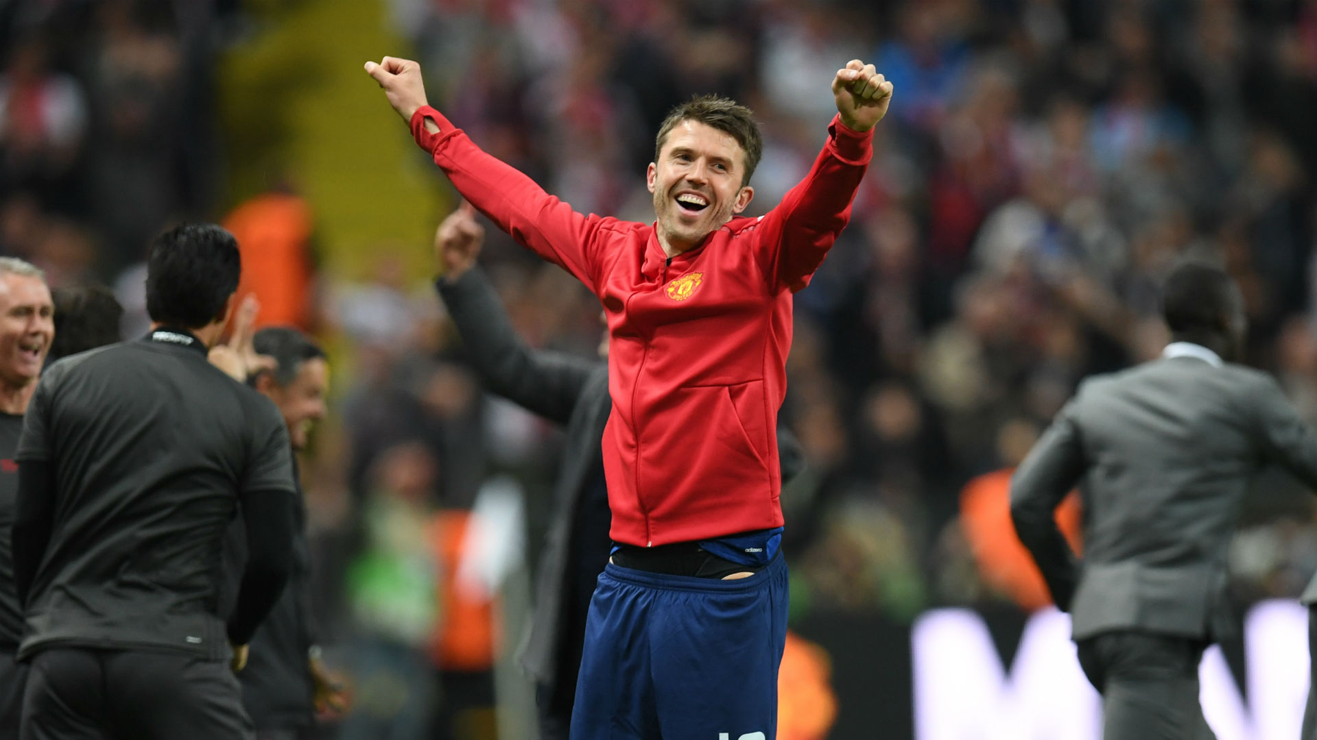 Michael Carrick Manchester United Europa League final