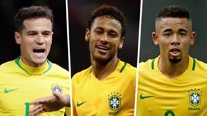 Coutinho, Neymar, Gabriel Jesus