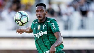 Yerry Mina Ponte Preta Palmeiras Brasileirao Serie A 25062017