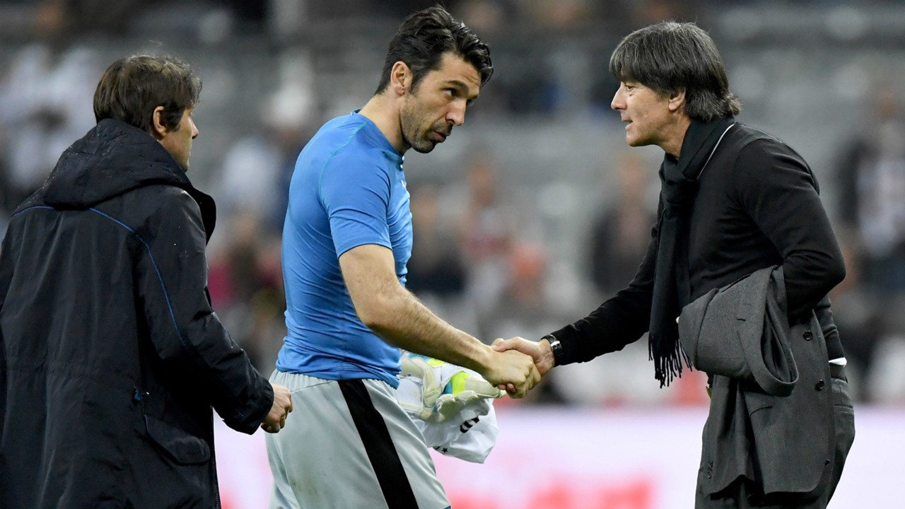 Joachim Löw Gianluigi Buffon Germany Italy Friendly 29032016