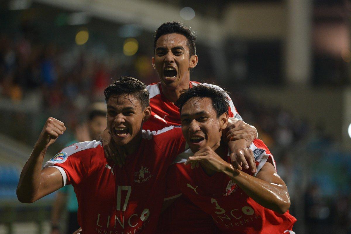 Home United celebrate