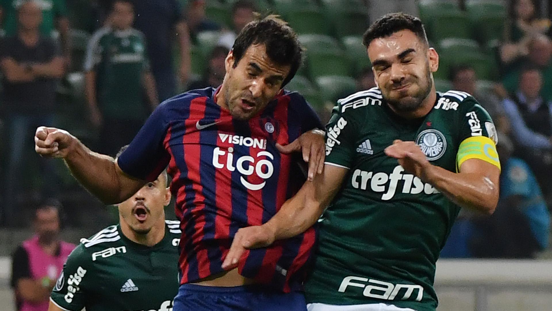 Bruno Henrique Raul Caceres Palmeiras Cerro Porteno Copa Libertadores 30082018