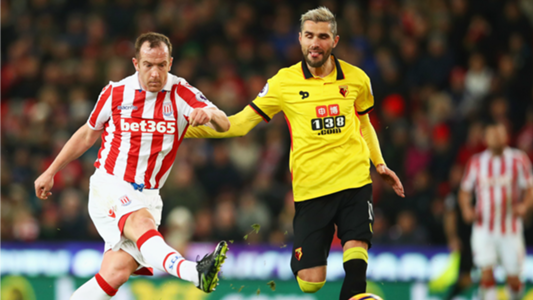 Charlie Adam Valon Behrami Stoke City Watford Premier League 01032017