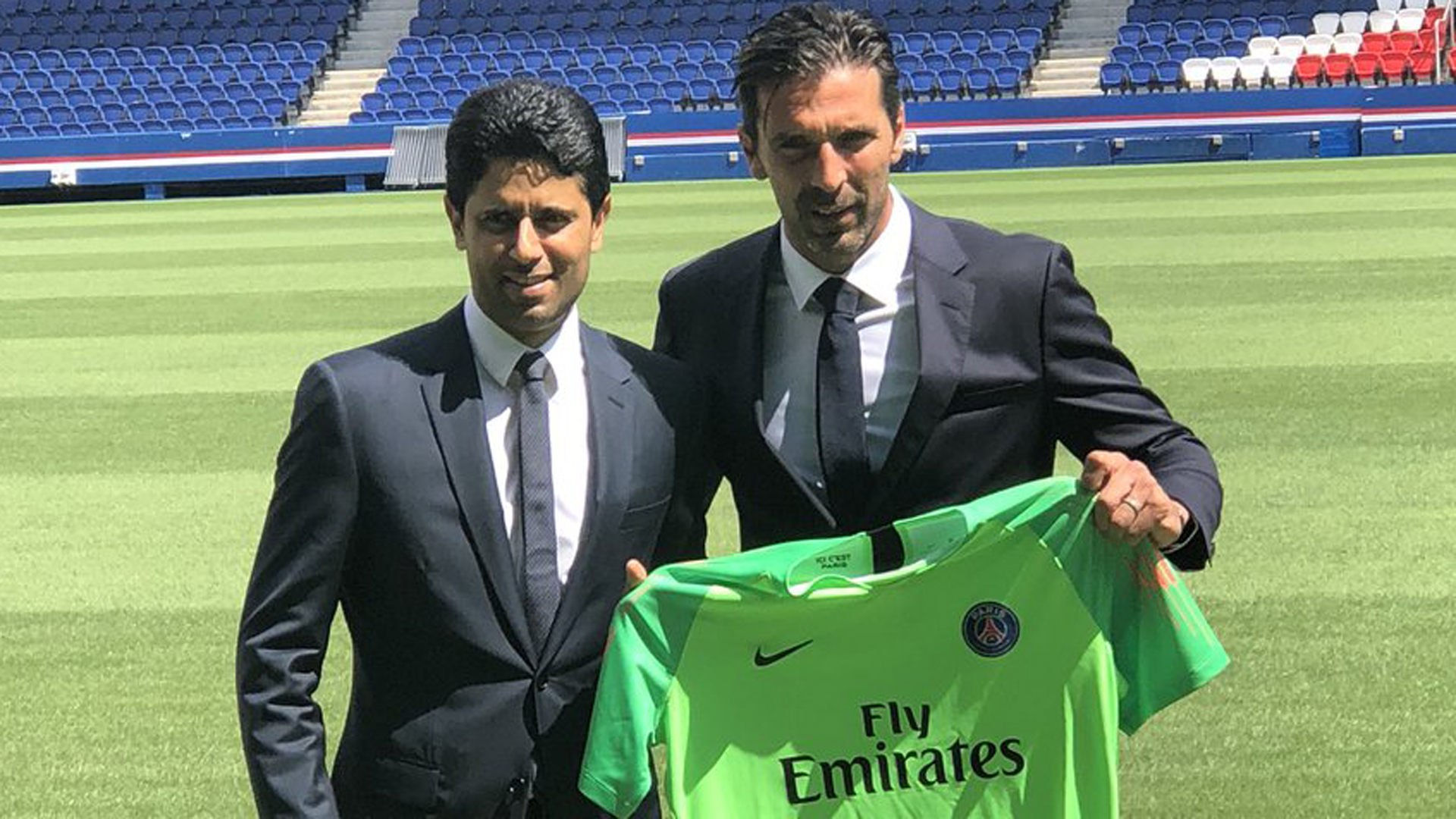 Buffon says thrilled, motivated by joining PSG