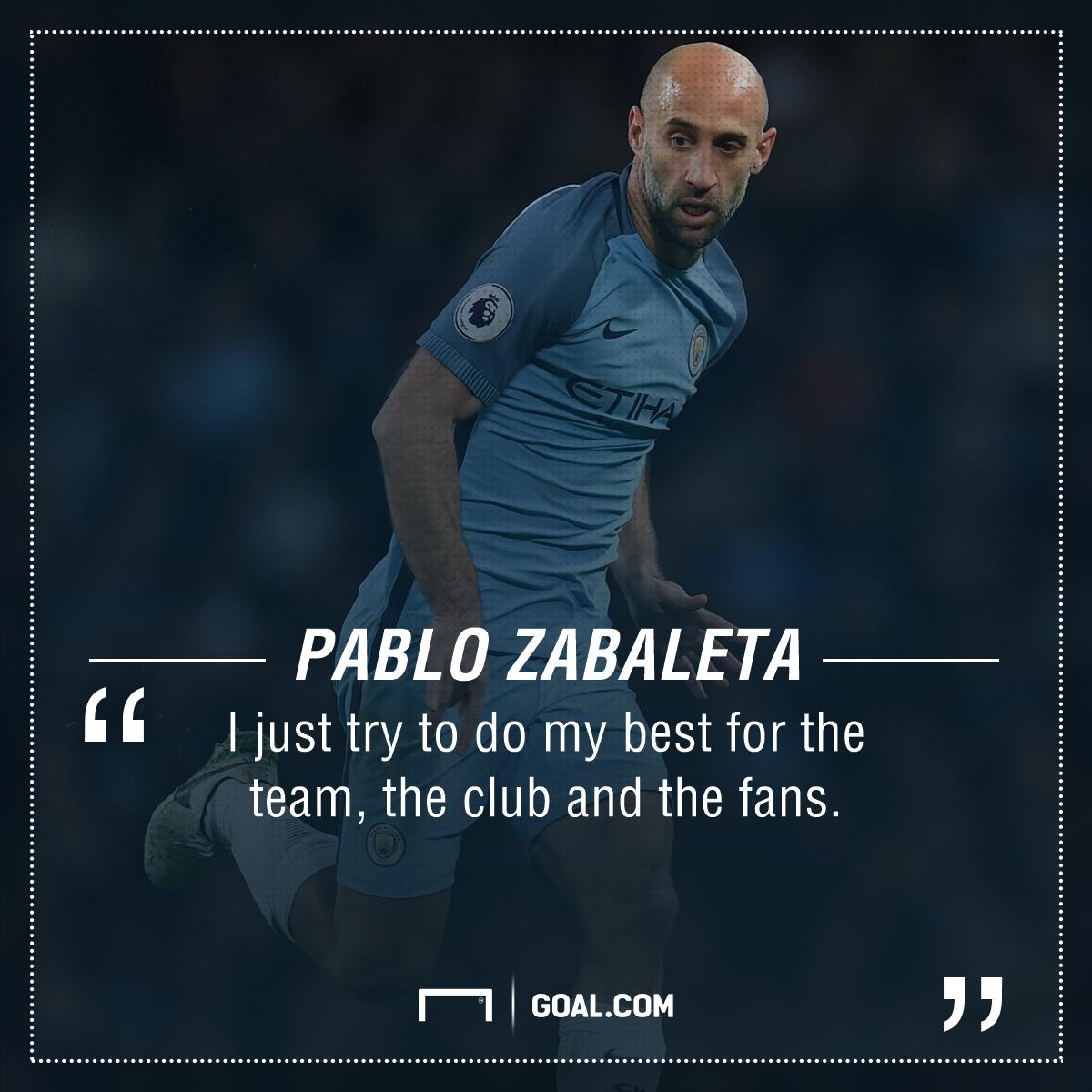 Pablo Zabaleta Manchester City PS