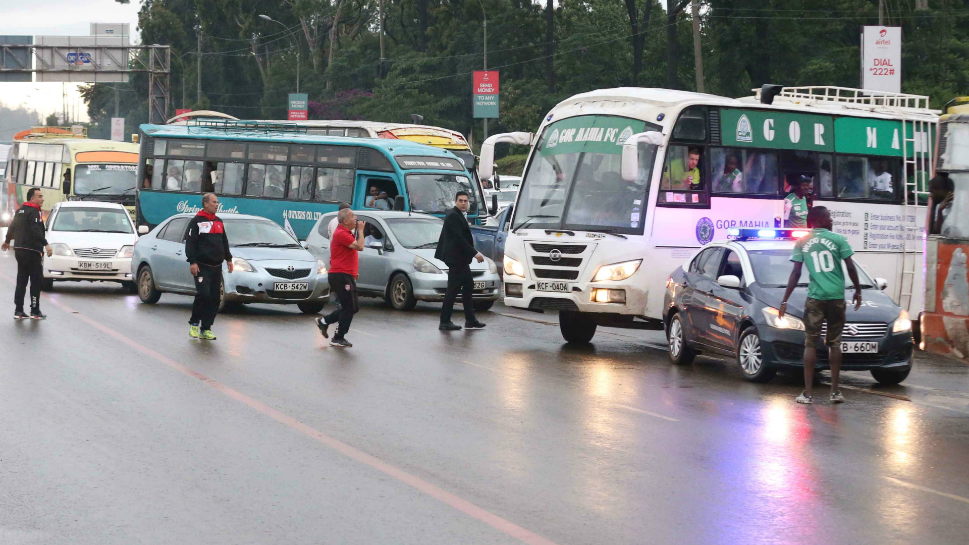 USM Alger v Gor Mahia traffic.
