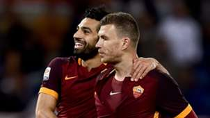 Mohamed Salah Edin Dzeko Roma