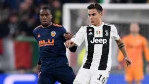 Paulo Dybala Geoffrey Kondogbia Juventus Valencia UCL 27112018