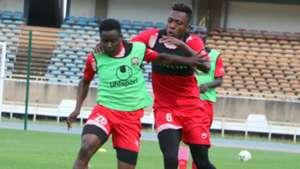 Aboud Omar and Erick Ouma of Kenya.