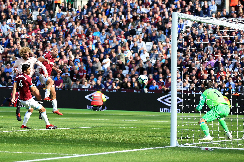 Marouane Fellaini West Ham United Manchester United Premier League 29092018