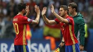Koke Cesc Fabregas Spain Turkey Euro 2016