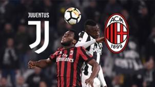 GFX Juventus AC Milan LIVE TICKER