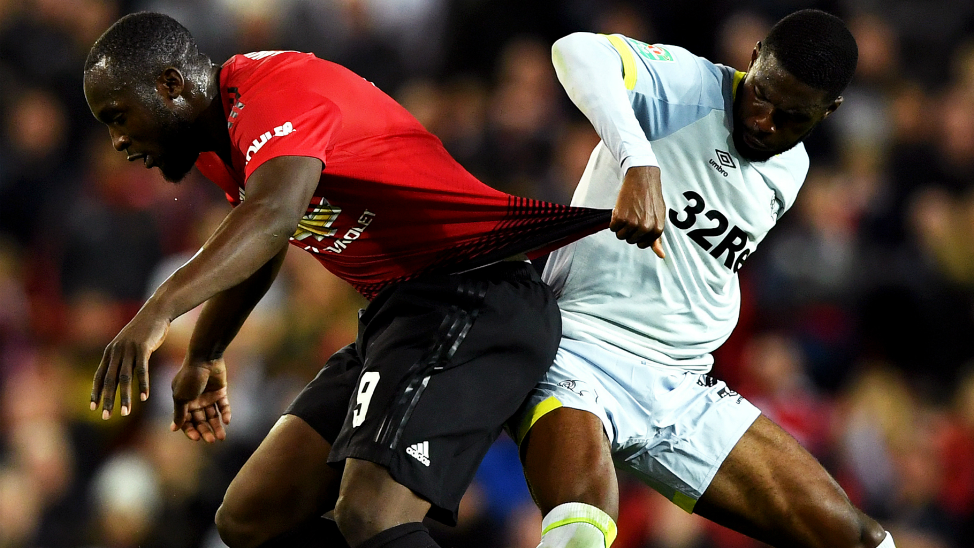 Romelu Lukaku, Fikayo Tomori - Manchester United vs. Derby County