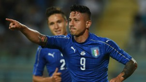 Gianluca Lapadula celebrates Italy San Marino Friendly 31052017