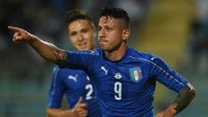 Gianluca Lapadula celebrates Italy San Marino Friendly 31052017