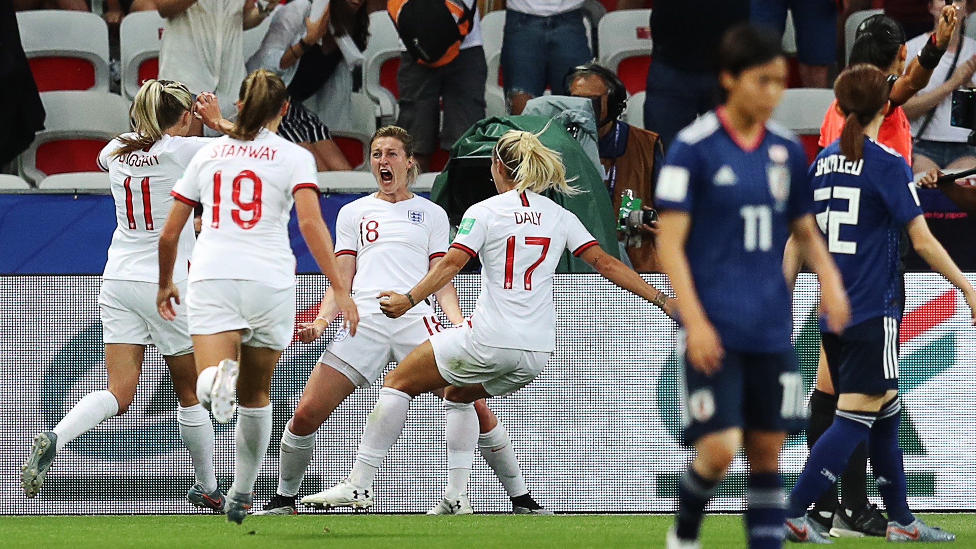 Japan vs. England - Football Match Report