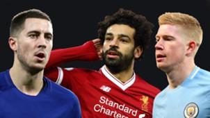 Eden Hazard Mohamed Salah Kevin De Bruyne