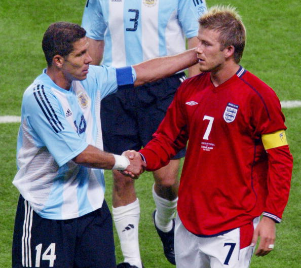Diego Simeone & David Beckham