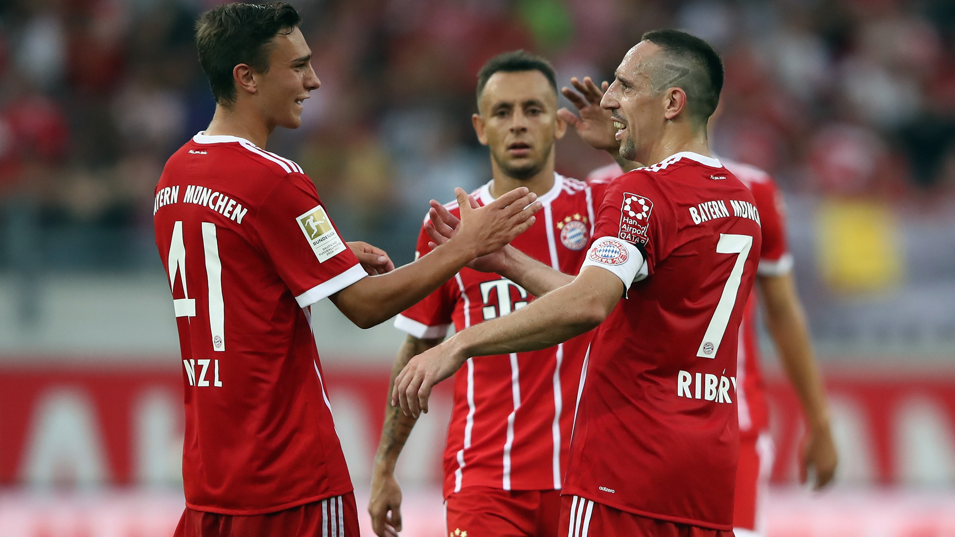 Bayern - Kickers Offenbach, Ribery, Nitzel, Rafinha, Retterspiel, 08302017